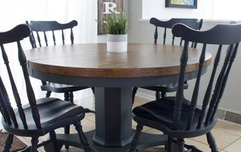 How to Stain & Paint a Pedestal Table With a Modern Farmhouse Look