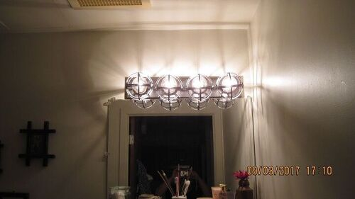 How to give a new look to old bathroom light fixtures? | Hometalk