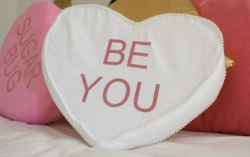 DIY Conversation Heart Pillows