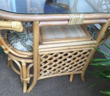 q how can you refinish rattan furniture that is sun bleached
