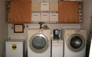 laundry room make over for less than 30 dollars