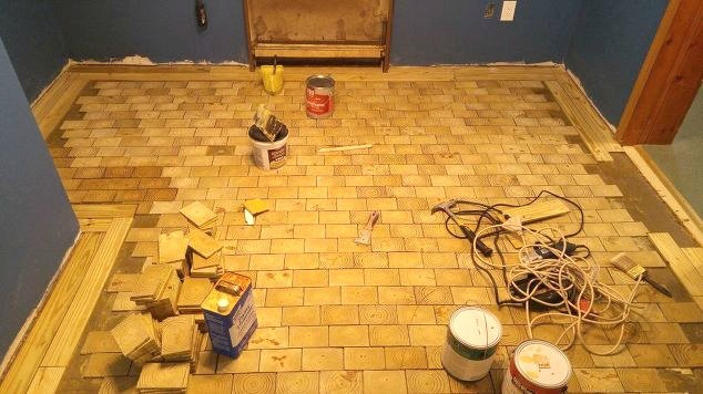 I Made An End Grain Wood Floor From Scratch And Saved Myself 4000