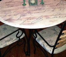 old tired old table to cute french script dining table