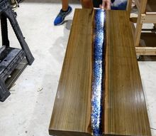 how to make a epoxy resin river table led glowing river