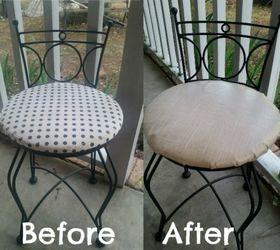 Diy 5 00 Burlap Vanity Chair Makeover