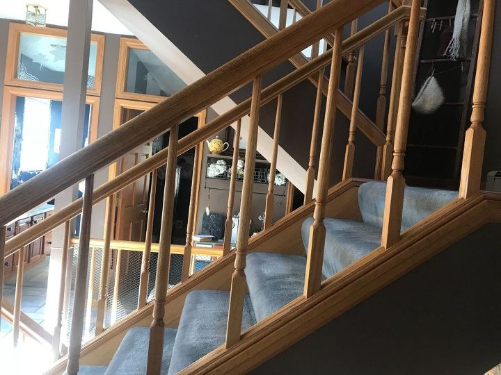 q my wooden stair railings are spaced too far apart how can i fix them