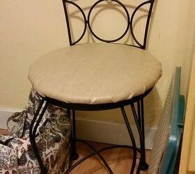 Diy 5 00 Burlap Vanity Chair Makeover ...