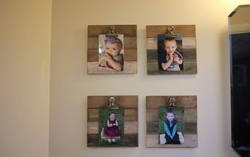 $1 Farmhouse Wood Wash Frames - Get the Shiplap Look on a Budget -EASY