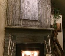 decorate fireplace wall naturally on a budget