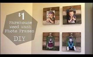 1 farmhouse wood wash frames get the shiplap look on a budget easy, Watch The Video For a Closer Look
