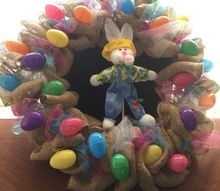 dollar store easter burlap wreath perfect for the holiday and spring