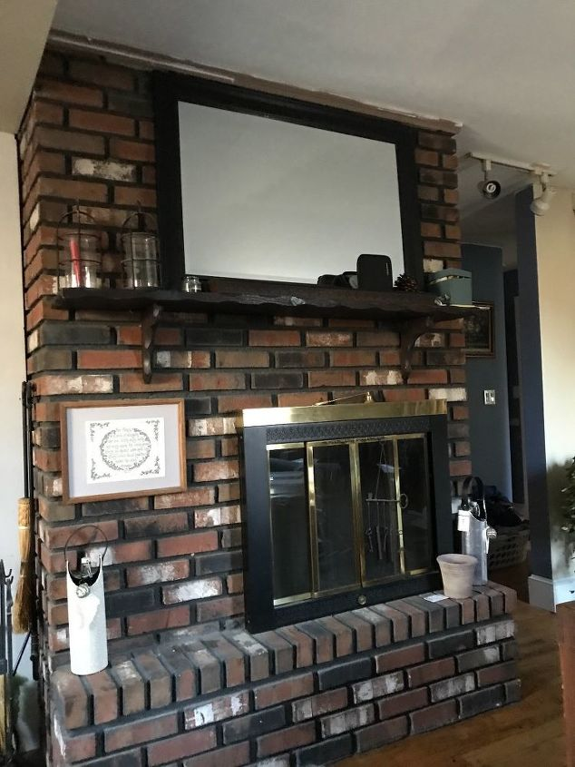 q how can i make this fireplace better it s too dark