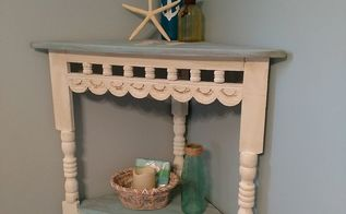 table redo from southwestern to beachy coastal, My new Beachy Coastal Corner Table