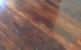 q i sanded painted hardwood floor w varathane but it s sticky