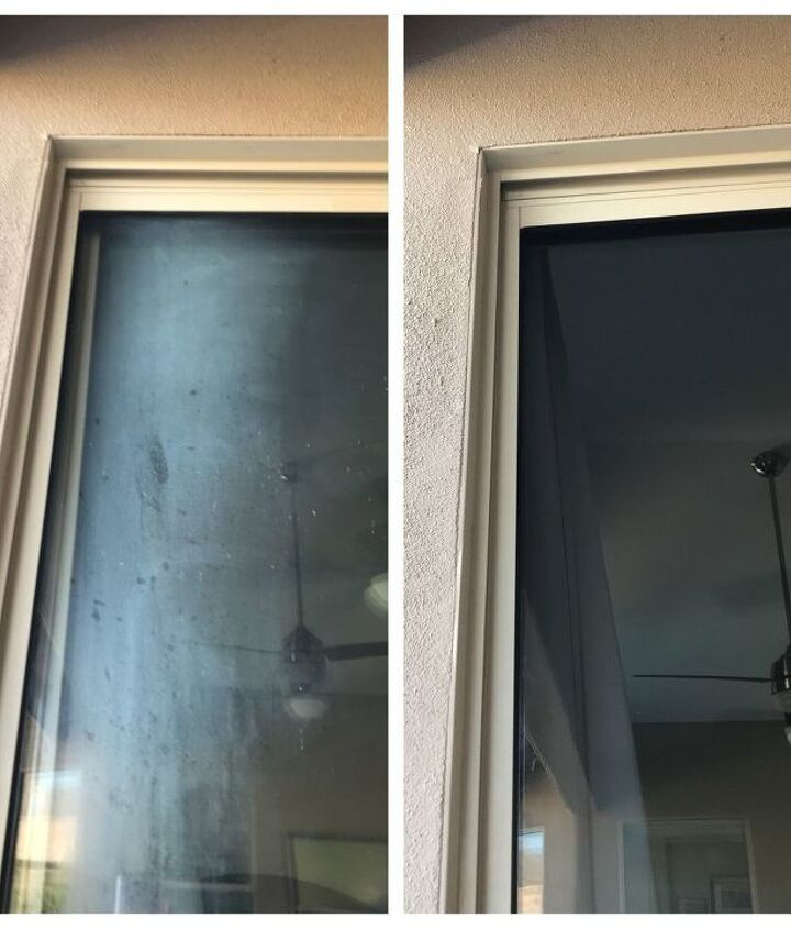 how to remove hard water stains on your windows or shower glass