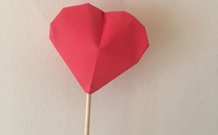 valentine 3d paper hearts