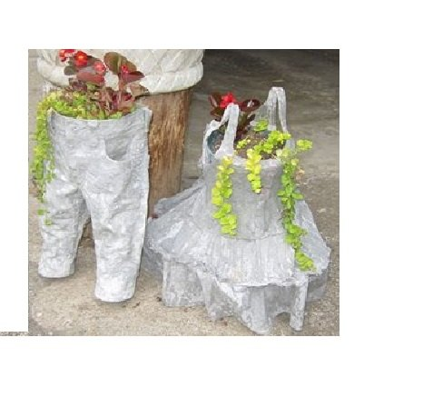 florzinhas de jardinagem feitas de roupas de criança upcycled