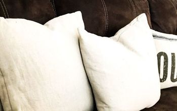 envelope pillow covers from drop cloth