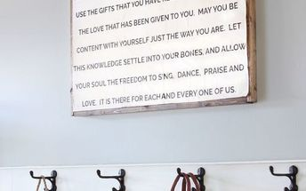 diy wood frame quote sign
