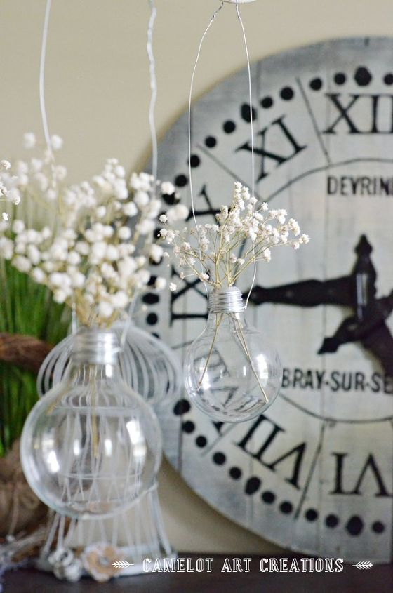 s 18 clever ways to repurpose old light bulbs, Make a nice hanging display