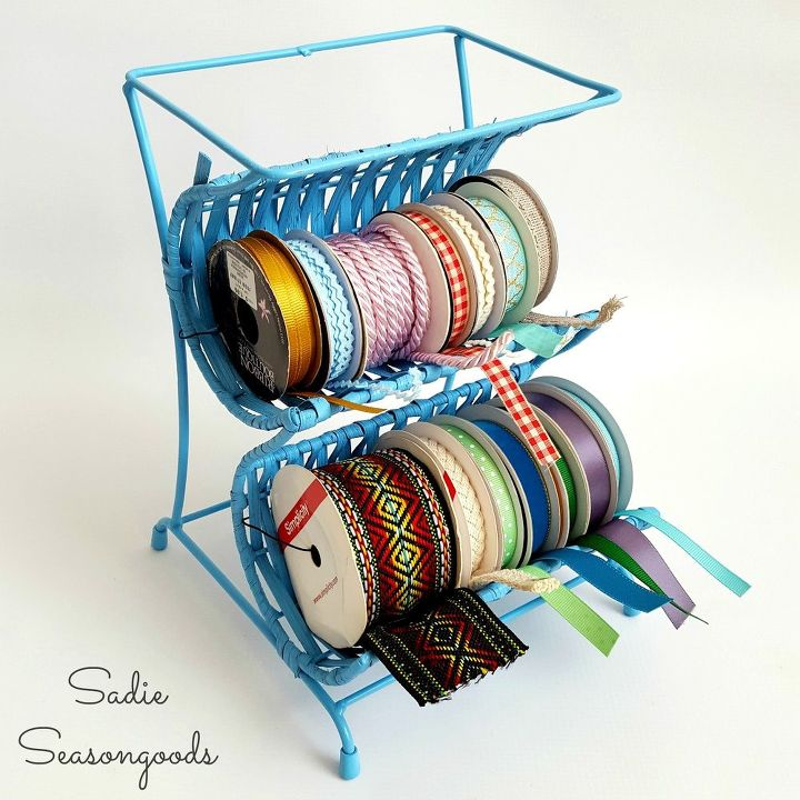 s keep your craft supplies organized with these fun storage ideas, From Wine Rack To Ribbon Cradle