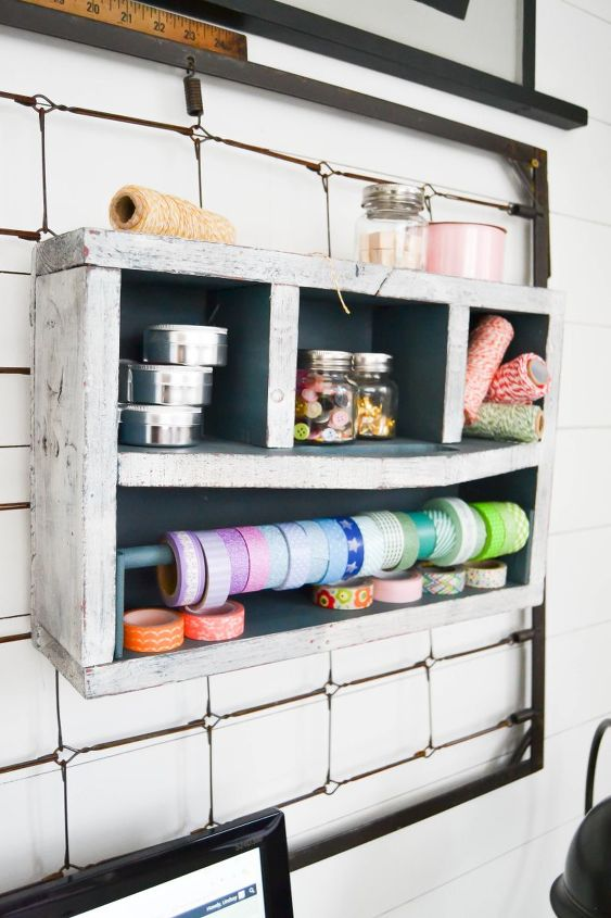 s keep your craft supplies organized with these fun storage ideas, Wood Vintage Toolbox Turned Craft Storage