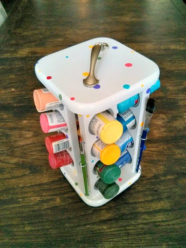 s keep your craft supplies organized with these fun storage ideas, Repurposed Old Spice Rack