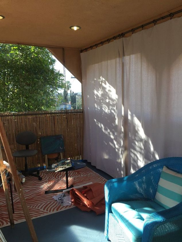 my new balcony transformed into art studio
