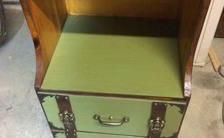 create a trunk inspired look for a nightstand