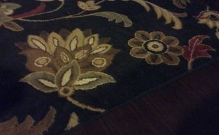 q can you paint an entire 8x10 black floral area rug white