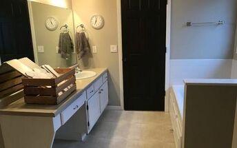 transitional grey white bathroom remodel