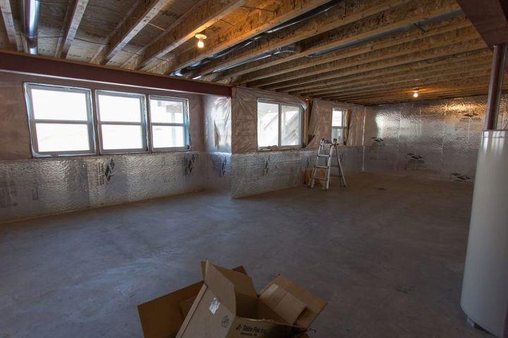 modern farmhouse basement before after