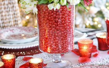 valentine s day table centerpiece and easy flower arranging hack