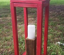 wooden lantern from scraps of wood from other projects