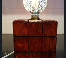 how to make a wooden block lamp