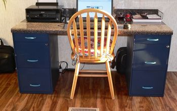 diy filing desk