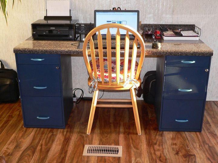 diy filing desk