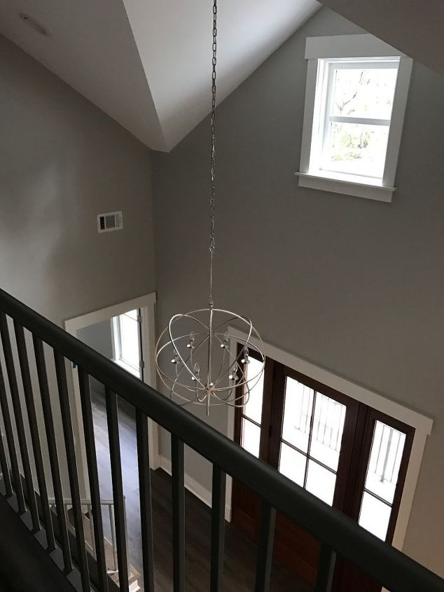 q what to hang on stair landing wall