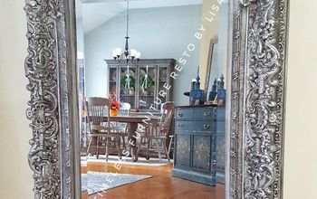 ornate mirror gets an updated look
