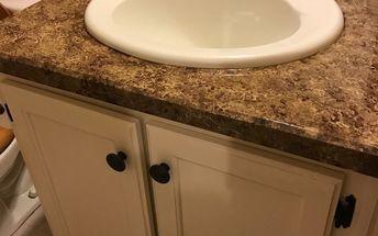 bathroom cabinet make over