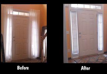 installing faux wood window blinds