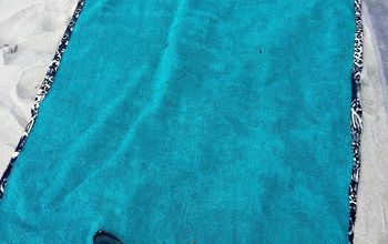 how to make a beach towel with pillow handles
