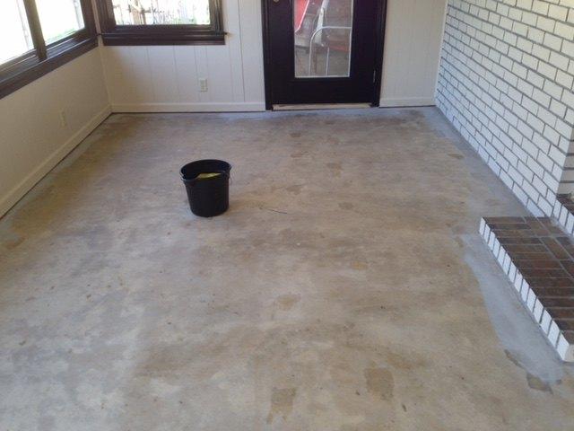 prepping floor