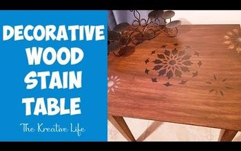 Decorative Wood Stain Table