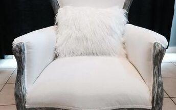 thrift shop armchair makeover