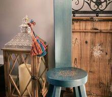 vintage step stool makeover and free mandala stencil designs