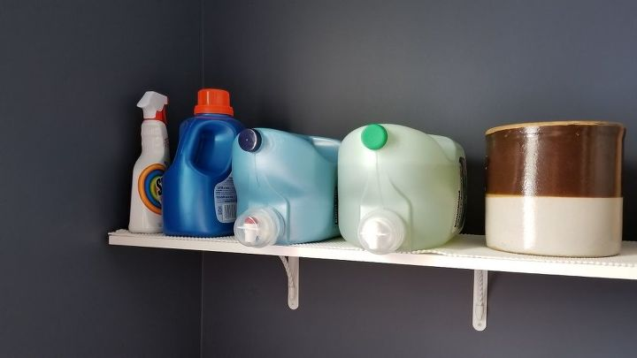 q does anyone have any ways to hide laundry products on a shelf