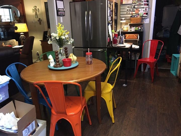 q how do you distress metal dining chairs