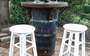 upcycled barrel bistro set