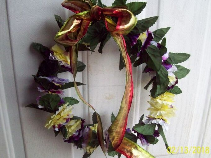 easiest no fail wreath for easter or spring
